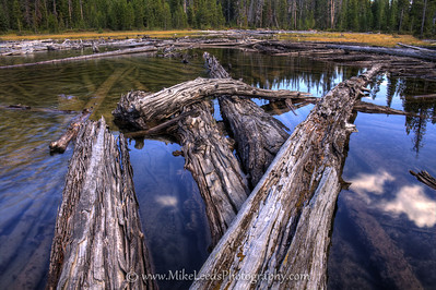 Hell Roaring Lake in the Sawtooth Mountains, Idaho. HDR