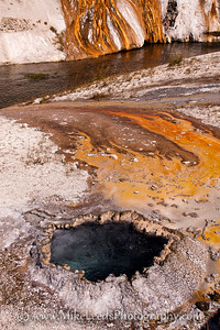 Boiling pool in Yellowstone National Park.