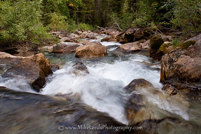 Creek in the Teton Mountains, Wyoming.
