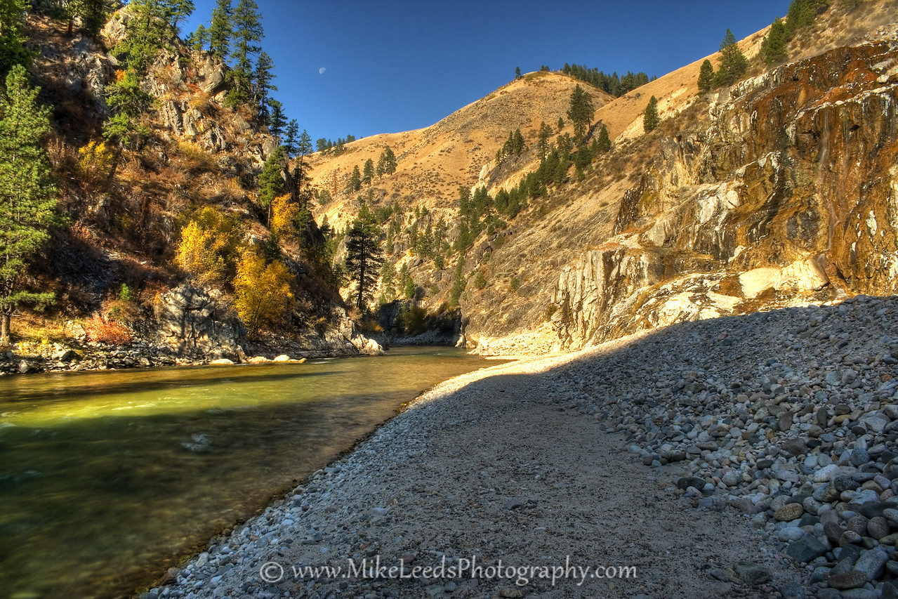 Pine Flats Hotsprings on the South Fork Payette River in Idaho. October 2008.