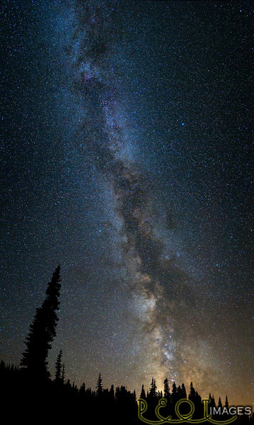 Milky way from Chinook Pass, Wa.<br /> <br /> <br /> _D3C5732 RT Panorama crop