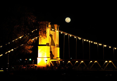 This was the giant moon back in the fall 2011 at the Waco Suspension Bridge.