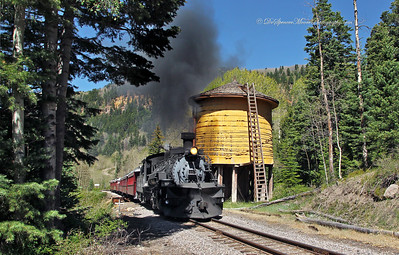 Steam Engine Cumbres Toltec Railroad, Chama New Mexico