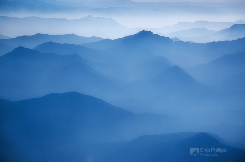 """""""Distant Hills From Muir""""  Shot from up at Camp Muir on Mount Rainier."""