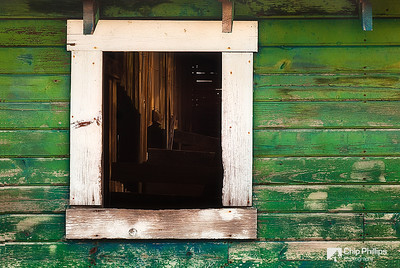 """Looking Inside""  Looking into the window of a neat old abandoned barn in the Palouse."