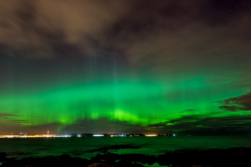 Aurora over Belfast Lough