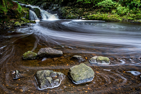 Rocks and swirls