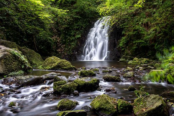 Glenoe waterfall