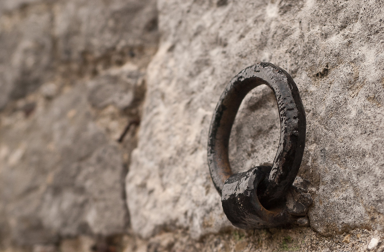 Horse Tie Ring  On the side of the carriage house at Kilkenny Castle Kilkenny, Ireland