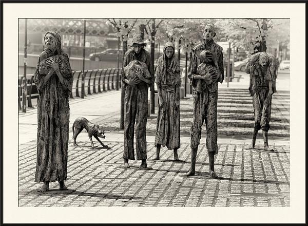 Famine Memorial in Dublin, Ireand