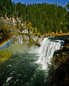 Upper Mesa Falls on Henry's Fork in Island Park Idaho