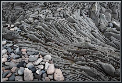 Rocks on frozen lava stream