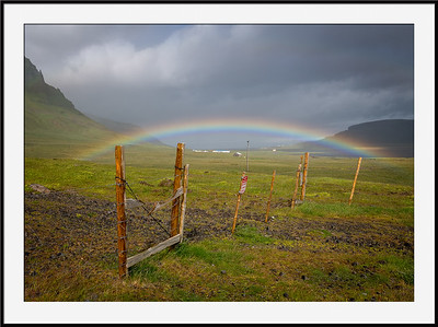 Rainbow over the country