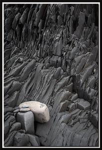 Stone on broken lava