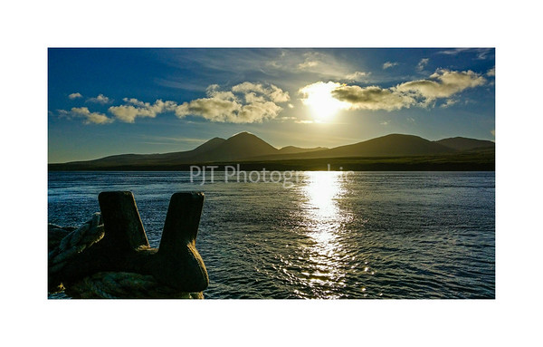 Sunrise over the Paps of Jura
