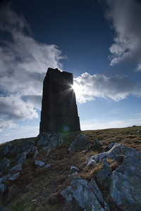 Corrin's Folly or Tower close to Peel on the Isle of Man