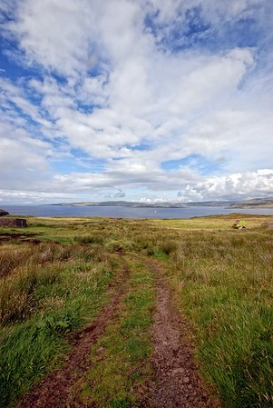 From Galtrigill towards Waternish with Isay Island in middle background.