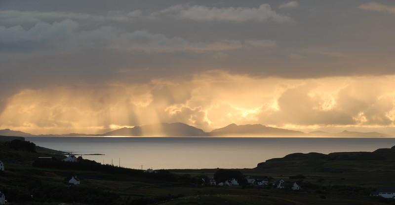 Towards North Uist from Glendale, Skye, Scotland.