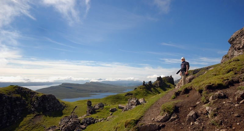 From The Old Man of Storr towards Loch Leathan and the Sound of Raasay beyond.