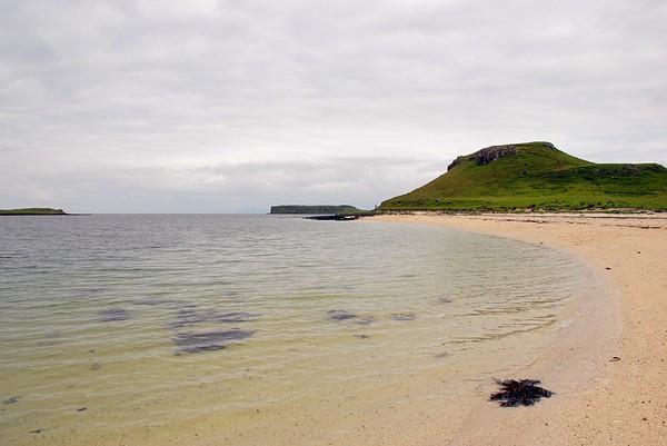 Coral beaches towards Cnoc More a' Ghrobain.