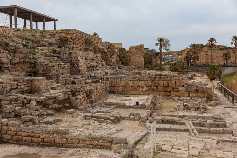 Caesarea - where Pontious Pilate governed during the time of Jesus.