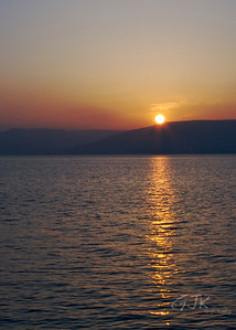 Sunset over the Dead Sea.