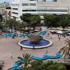 Dizengoff Square from high up with Agam's Foutain in the middle, Tel Aviv