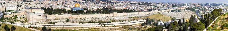 Jerusalem, old city panorama.