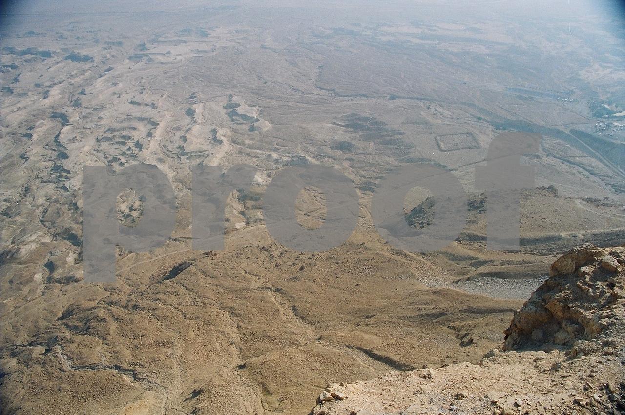 Israel. Masada. Ruins of Roman army camp.