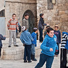 "Jewish children in the ""Mea Shearim"" district Jerusalem , Israel"