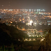 Bahai Shrine and Gardens at night, Haifa, Israel