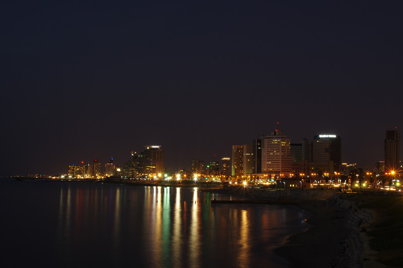 Tel Aviv at night time/Yafo