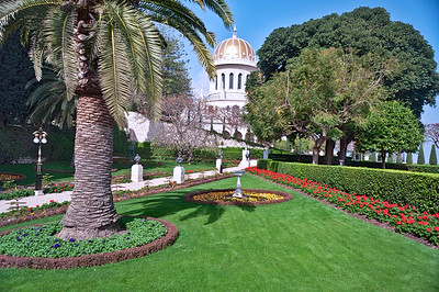 Bahai gardens of the Carmel Mountain. Haifa, Mediterranean, Israel