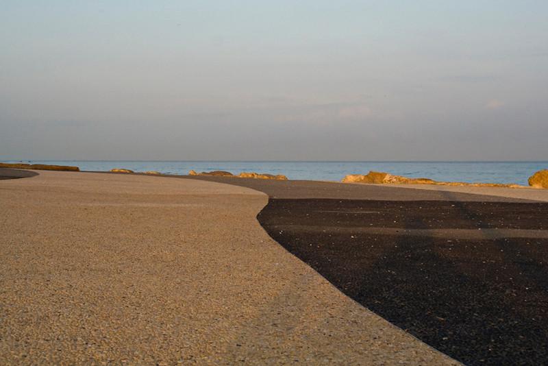 Tel Aviv seashore early morning