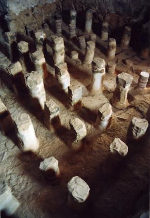 Israel. Masada. Ruins of Herod's spa.