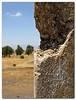 A view from the battered minaret of the masque at the hushnia Junction. Golan Heights, Israel.