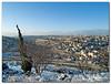 Snowy Jerusalem as viewed from Mount Scopus.