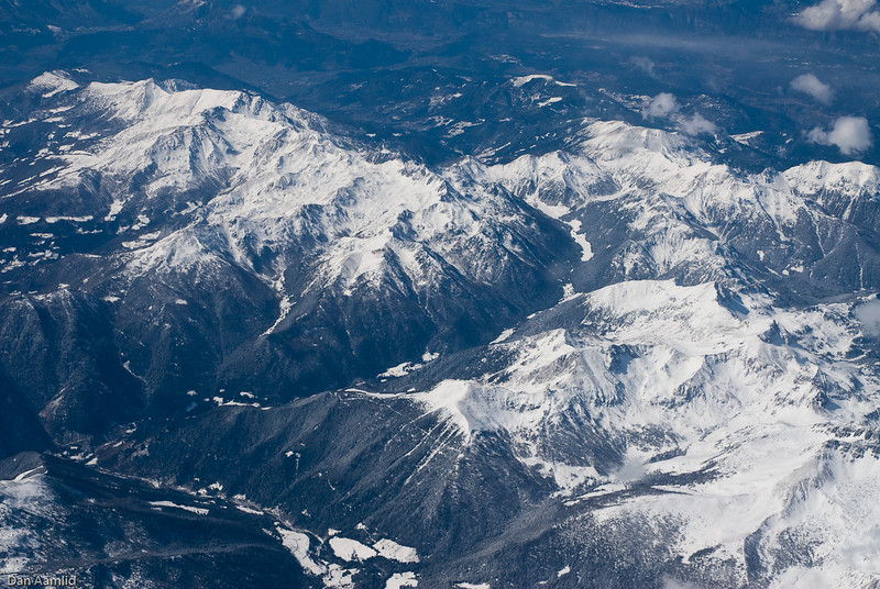 Somewhere in the Italian Alps, from flight to Firenze, Italy