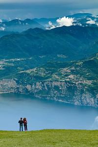 Couple's view of lake Garda
