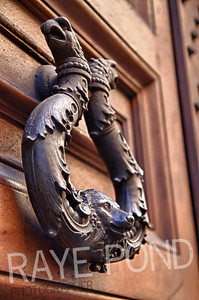 Door handle in Rome.