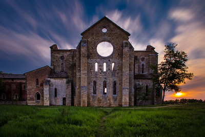 Sunset at San Galgano