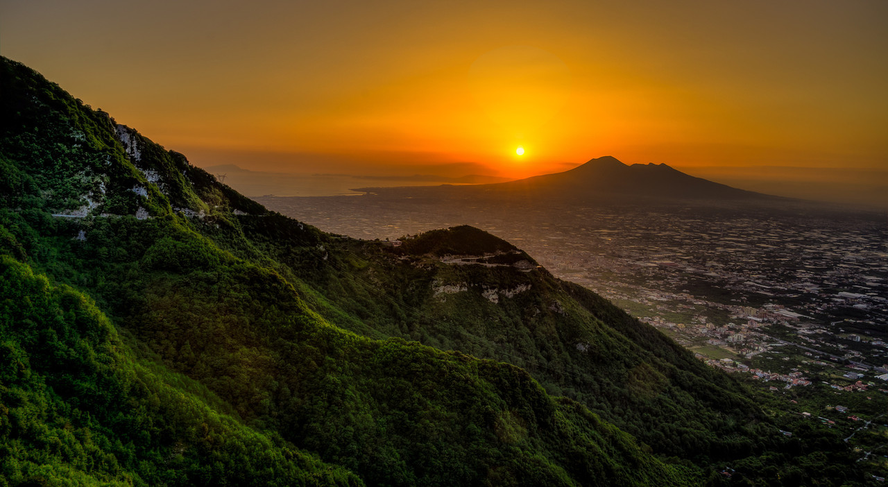 Sunset at Mount Vesuvius