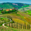 The Winding Road - Val d'Orcia Region, Tuscany, Italy