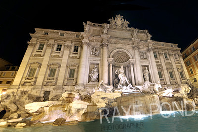 Trevi Fountain in Rome.