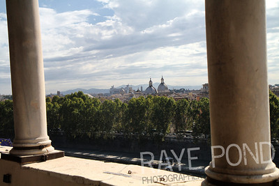 View of Rome from Castel Sant' Angelo.