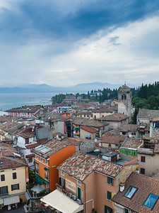Sirmione old town from above