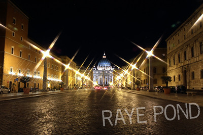 Street View of St. Peter's Basilica.