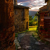 The Nighttime Streets Of Italy  - Val d'Orcia Region, Tuscany, Italy