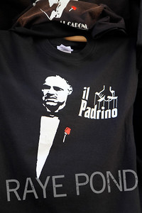Il Padrino tee on streets of Florence.