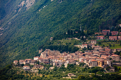 Italian village on a hill